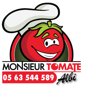 MONSIEUR TOMATE | Albi PIZZA Logo